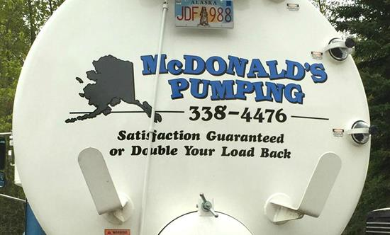 Old McDonald's - Septic Pumping Service - Anchorage Alaska - Septic Pump Truck - Rear 2